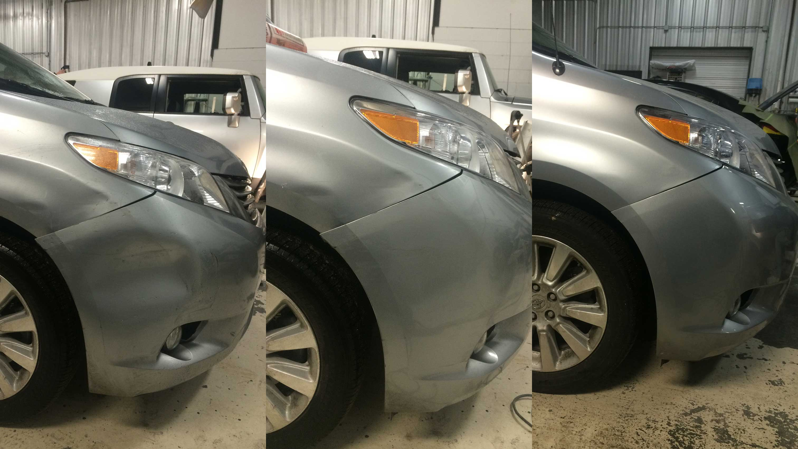 ضربه خوردگی و تعمیر سپر خودرو