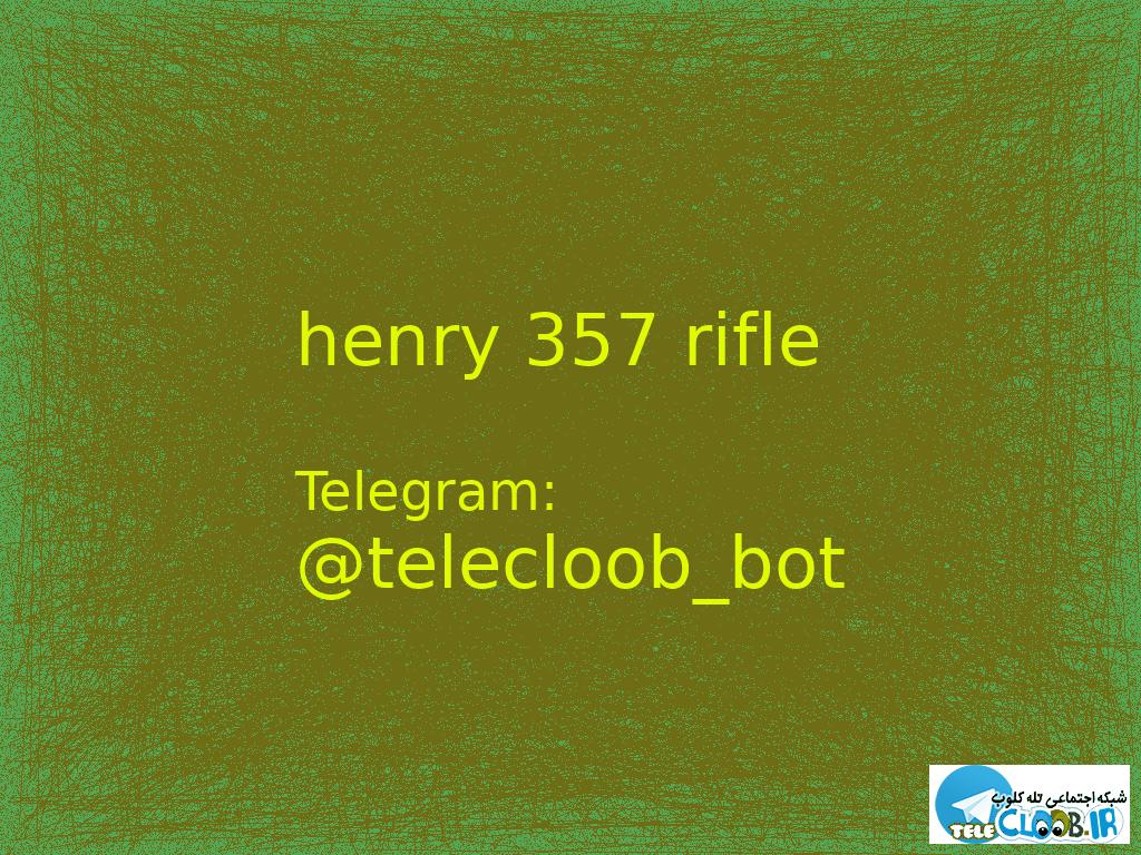 henry 357 rifle